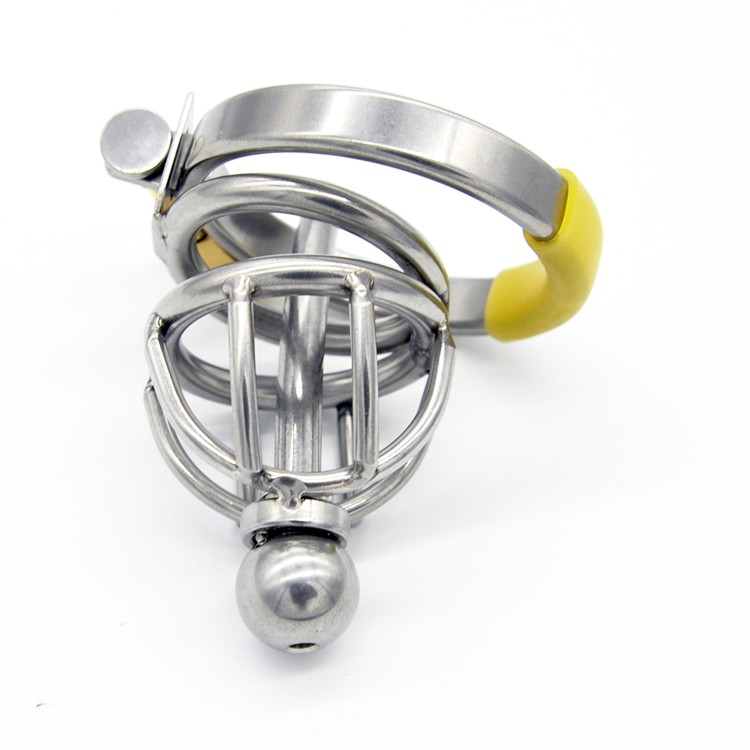 New-Stainless-Steel-Male-Chastity-Device-with-Catheter-Cock-Cage-Virginity-Lock-Penis-Ring-Penis-Lock (1)