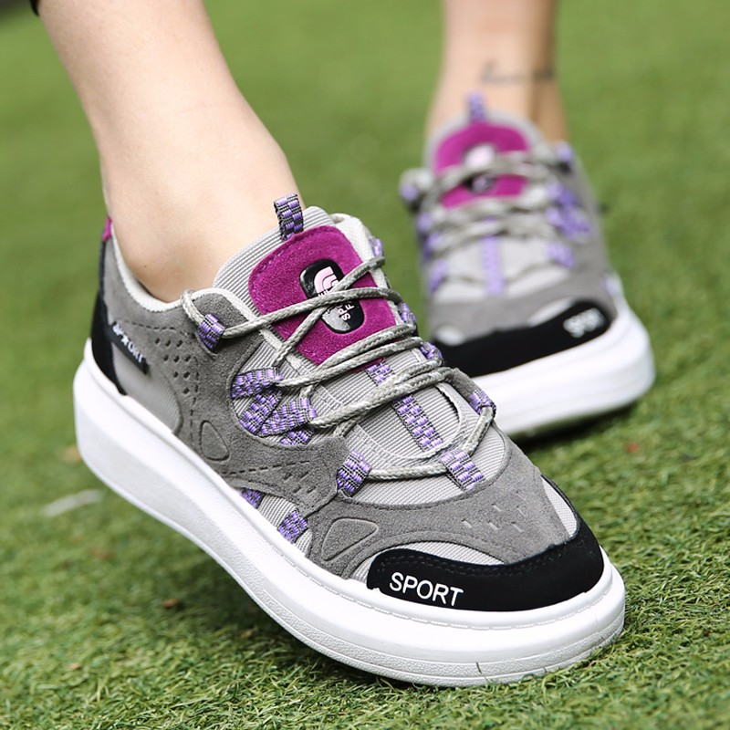 KUYUPP 2016 Autumn Fashion Women Flat Platform Shoes Sport Casual Shoes For Mens Trainers Lace Up Low Top Shoes Breathable YD111 (27)