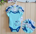 5pcs/lot Newborn Baby Boys Girls Clohes Baby Romper Short Sleeves 100% Cotton Infants One-Piece Body Suit Toddler Jumpsuit