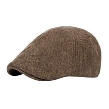 Классическая шляпа Glof, нежная Мужская дышащая Ретро шапка с уткой, мужская шапка, Британский ветер, грубое белье, берет