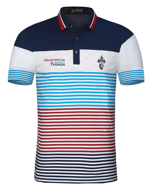 New Arrival Cotton Mens Polo Shirt Brands Clothing Short Sleeves with Letter Logo Famous Brand Slim Summer Style Polo 2018