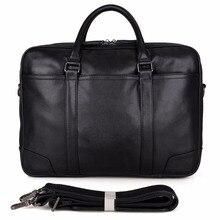 JMD Genuine Tanned Leather Handbag Laptop Bag Top Handle Mens Briefcases 7348A