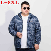 plus size 8XL 7XL 6XL New ultra thin jacket men brand clothing ultra light sunscreen coat male top quality breathable soft tops