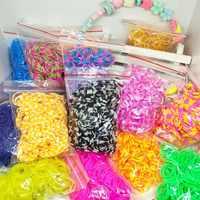 1800 шт. резиновые ткацкие ленты DIY игрушки для детей набор детский шнуровочный браслет «Радуга» силиконвые резинки эластичные переплетения ...