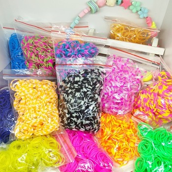 1800pcs Rubber Loom Bands DIY Toys For Children Set Kid Lacing Bracelet Silicone Rubber Bands Elastic Rainbow Weave Girl Gifts