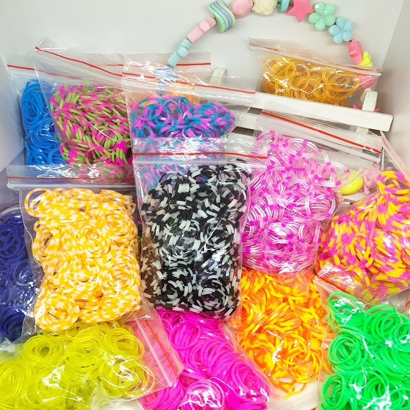 1800pcs Rubber Loom Bands DIY Toys For Children Set Kid Lacing Rainbow Bracelet Silicone Rubber Bands Elastic Weave Girl Gifts