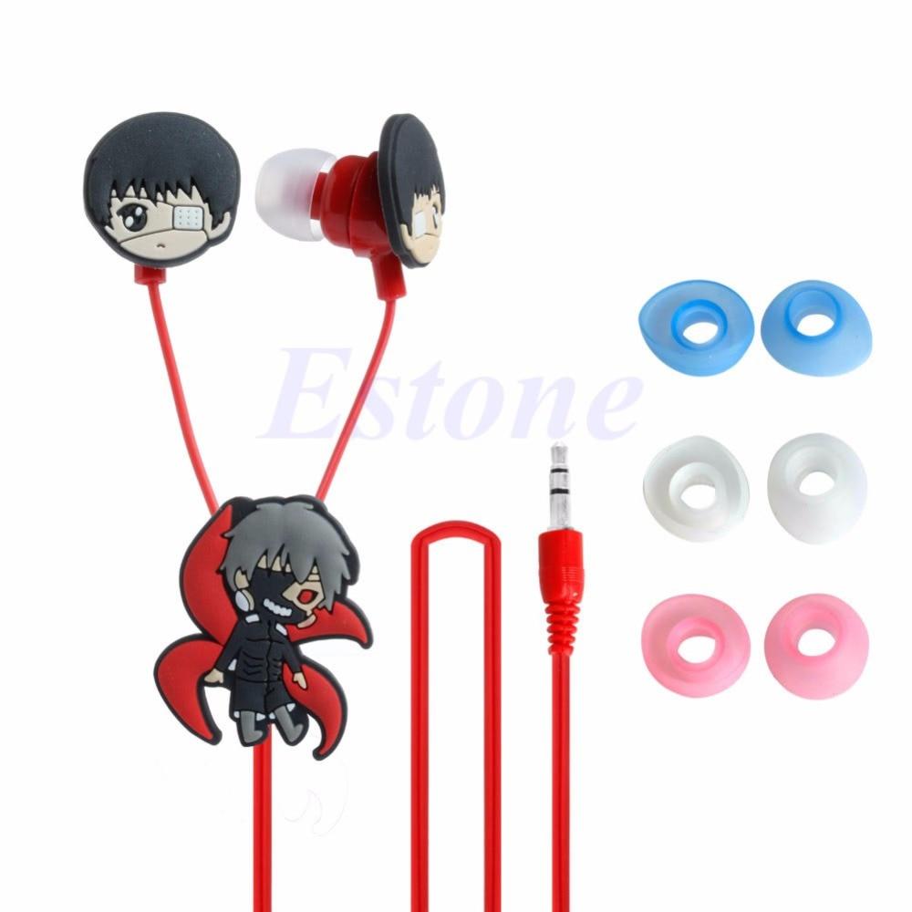 ANENG 3.5mm Anime Tokyo Ghoul  Earphone Cute Earbuds Headphones Headset Cosplay anime tokyo ghoul akira mado anime cosplay wig heat resistant fibre mado akira cos wig hair free wig cap free shipping