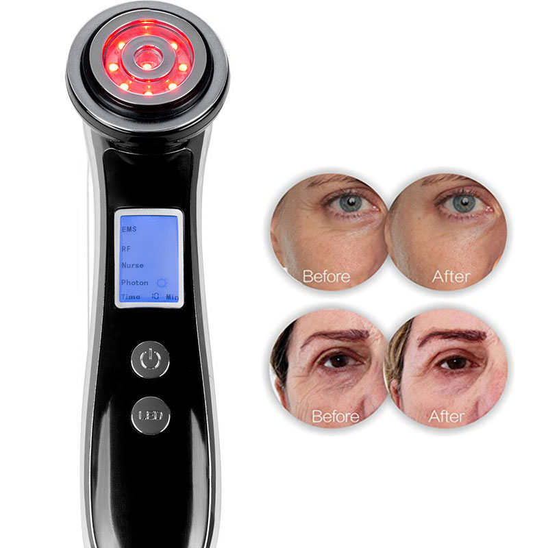 NEW RF Radio Frequency Face Clean Skin Lifting Machine EMS LED Photon Therapy Face Tightening Wrinkle
