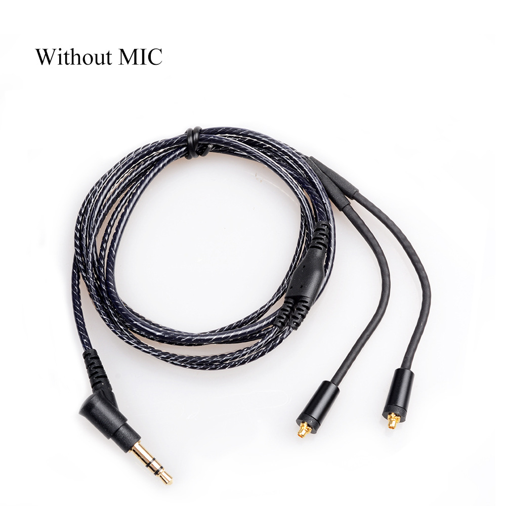 OKCSC Replacement Earphone Cable MMCX jack Headphone Cord 3.5mm plug for SONY XBA-Z5 SHURE SE215/315/535/846/UE900 No mic replacement earphone jack module for iphone