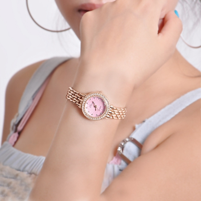 PREMA Brand Best Selling Fashion Women Rhinestone Bracelet Watch Luxury Leather
