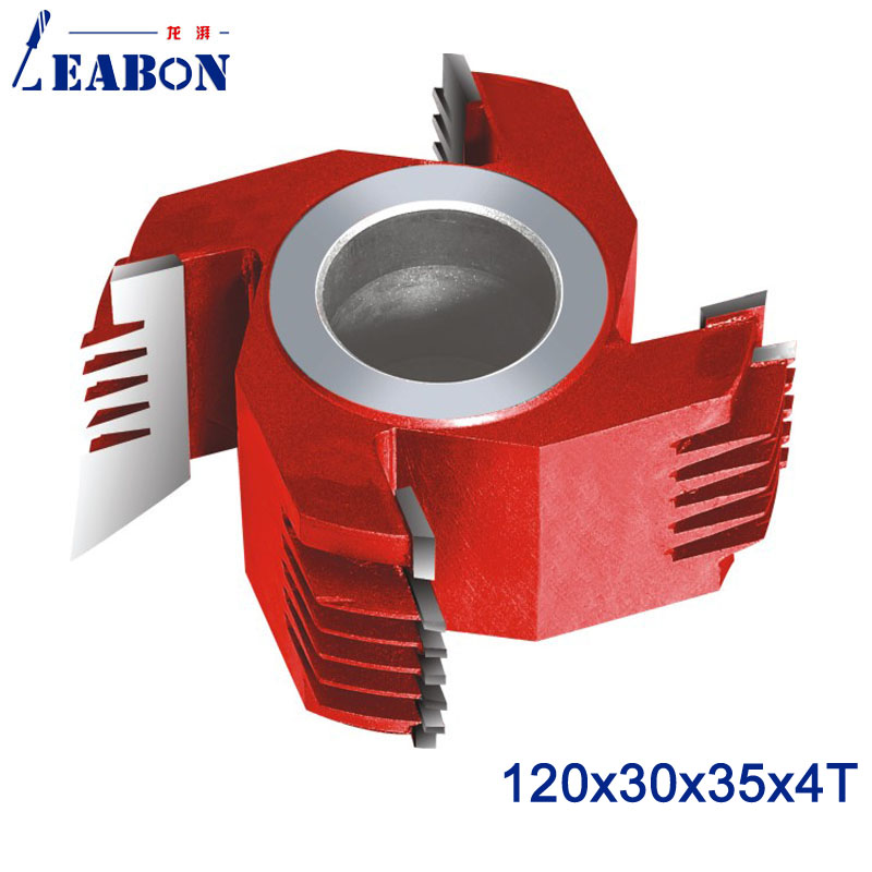 LEABON 30mm Height Woodworking Cutter Head  Finger Joint Shaper Cutter  120*30*35*4T With 3 Fingers