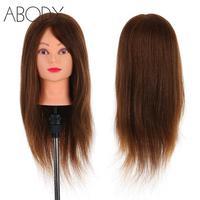 24 100% Real Human Hair Mannequin Head + Clamp Salon Hair Cutting Braiding Practice Hairdressing Training Head Dummy Head Tools
