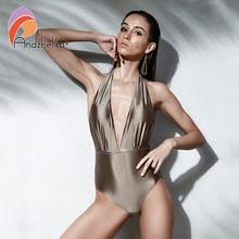 Andzhelika נשים חדש חתיכה אחת סקסי הלטר בגדי ים ברזילאי בציר בגדי ים קיץ בגד גוף שני דרכים ללבוש בגד ים