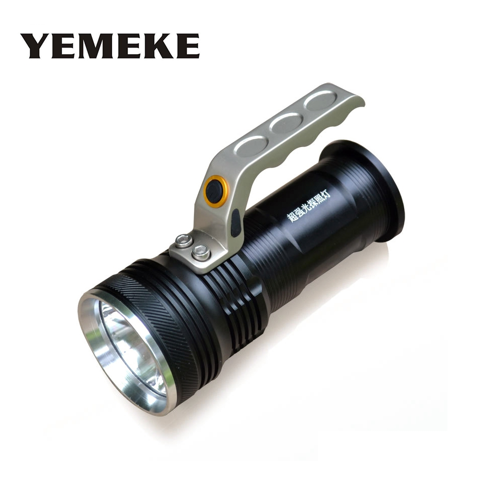 R5 Torch Movable Outdoor Lighting Rechargeable Portable Camping Spotlight LED Flashlight + 2*18650 Battery + Charger