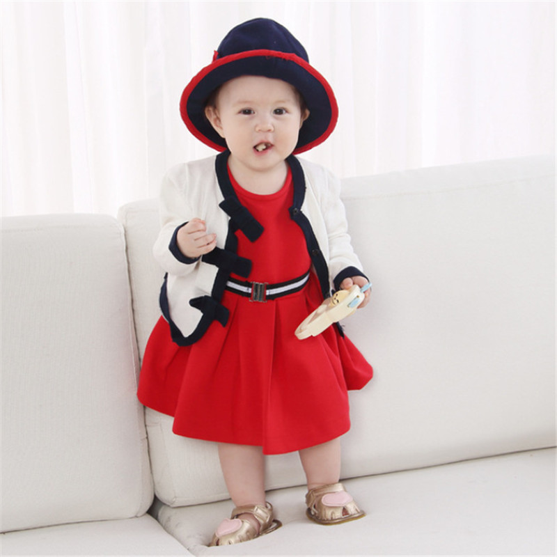 3PCS Set Cute Princess Child Women Garments Spring Winter Toddler Youngsters Knit Cardigan +sleeveless Costume Hat Outfits Clothes Set Clothes Units, Low cost Clothes Units, 3PCS Set Cute Princess...