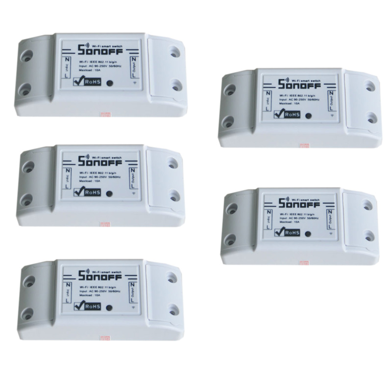 5pcs sonoff dc220v Remote Control Wifi Switch Smart s
