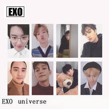 KPOP EXO Universe Winter Special Selfie Photo Cards Collection 8pcs/set(China)