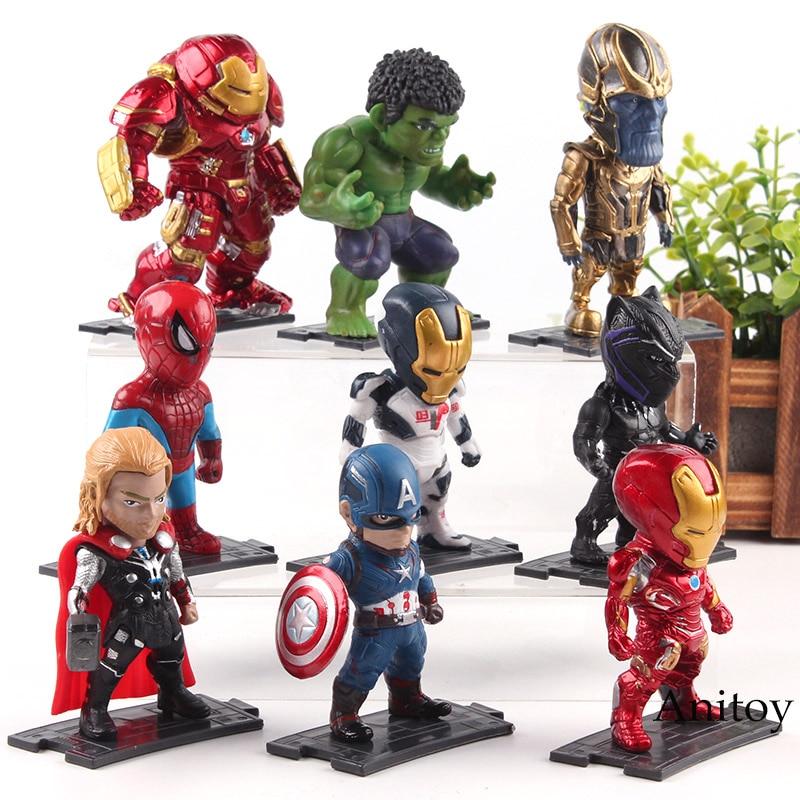 12PCS Marvel Comics avengers toy superheros figurine ironman hulk thor