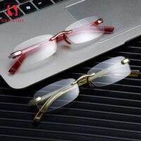 7e6a993c0 Rimless Reading Glasses Men Women Eyeglasses Presbyopic Hyperopia Frameless  Screwless Eyewear 1 0 1 5 2. Das Mulheres Dos Homens de Óculos Leitura sem  aro ...