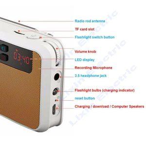 Image 5 - Rolton E500 stéréo Bluetooth haut parleur FM Radio Portable haut parleur Radio Mp3 jouer enregistrement sonore main libre pour téléphone et lampe de poche