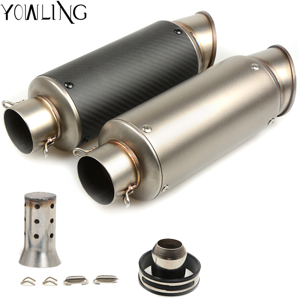 Motorcycle Exhaust Escape Moto Muffler Exhaust Pipe With Removable DB Killer GY6 CBR125 CB400 CB600 YZF R3 R6 fz1 mt03 s1000rr