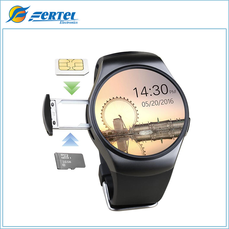 ФОТО Sale KW18 Smart Watch Bluetooth Smartwatch SIM Round Heart Rate Monitor Watch for apple huawei xiaomi Samsung Gear S2