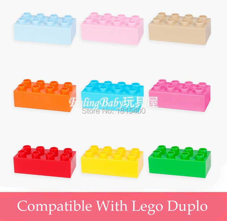 Education Kids Toys DIY Model Plastic Building Bricks Blocks Set 6.4x1.9x3.2cm Large Bricks Early Learning Toys For Baby 10pcs wange mechanical application of the crown gear model building blocks for children the pulley scientific learning education toys