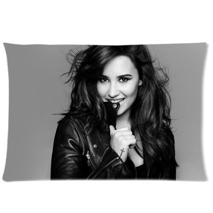 LUQI Room Bedding Set 20X30 inch Sleeping Well pillowcase American Actress Singer Demi Lovato best pillow cases Anniversary Gift