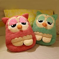 Winter Cute Owl Shape Plush Multi Use USB Electric Heated Warm Foot Shoes And Hand Warmer