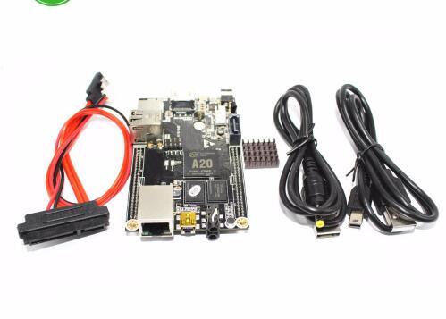 Free shipping 1pcs PC Cubieboard A20 Dual-core Development Board , Cubieboard2 dual core with 4GB Nand Flash Connector cubieboard3 cubietruck dual core a20 development board w 2gb ddr3 memory hdmi vga