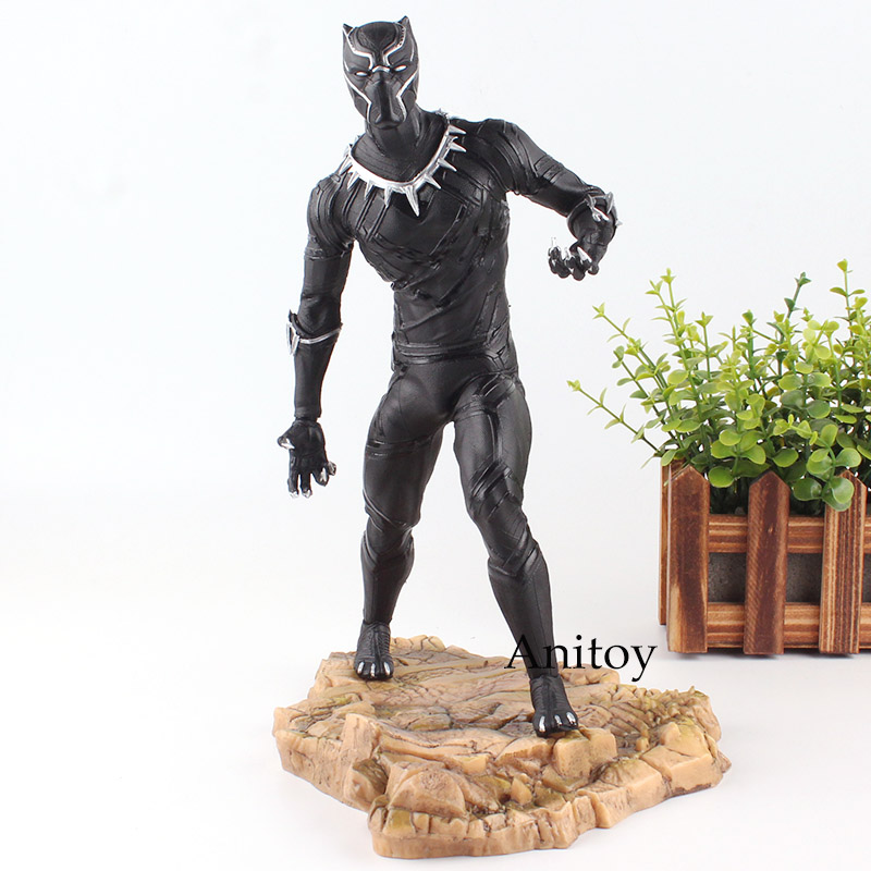 Marvel Figure Super Heroes Black Panther Action Figure United We Stand Divided We Fall Toy 29cm
