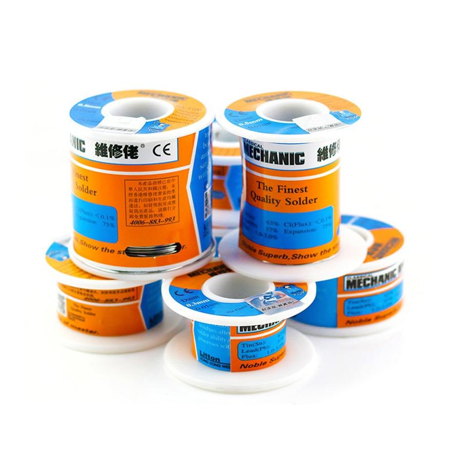 Mecânico 100g solda de seda baixa temperatura fluxo de resina baixo ponto de fusão solda fio estanho solda bga