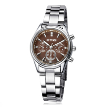 EYKI Brand Women Stainless Steel Waterproof Watch Fashion Silver Quartz Watches Female Luminous Pointer D Wristwatches