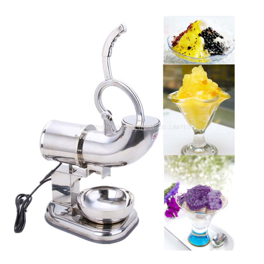 electric ice shaver 110v/220v Fully Stainless Steel Snow Cone Machine Ice Shaver Maker Ice Crusher machine jiqi electric ice crusher shaver snow cone ice block making machine household commercial ice slush sand maker ice tea shop eu us