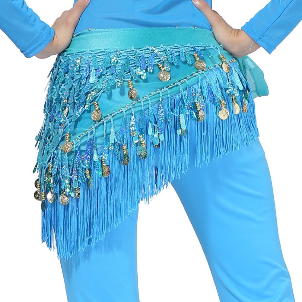 Belly Dancing Hip Scarf Waistband Skirt Belt Coins Tassels Dance Costume Hot