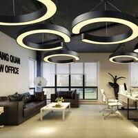 Офисное освещение Светодиодная современная лампа-педант фонарь для учебы ресторанная индустрия креативные белые черные C светодиодные лам...