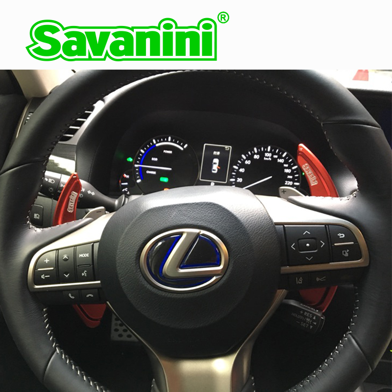 Savanini 2pcs Aluminum Steering Wheel DSG Shift Paddle Shifter Extension For Lexus GS250 GS350 auto car