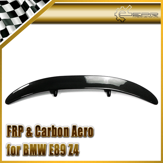 Car Accessories For BMW E89 Z4 Carbon Fiber H Style Rear Spoiler Glossy Fibre Trunk Wing Auto Boot Body Kit Racing Trim