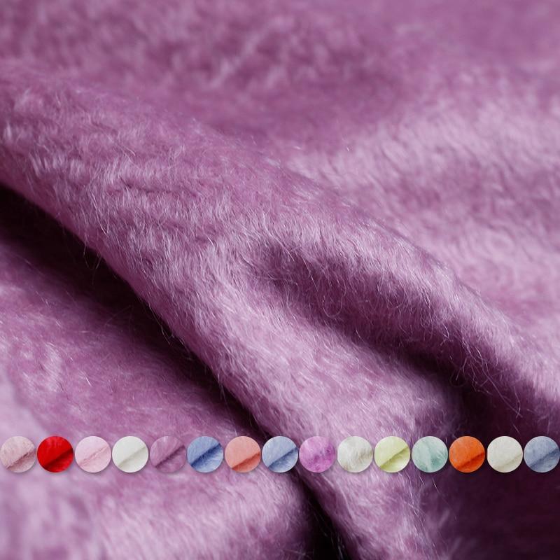 Ev ve Bahçe'ten Kumaş'de Pearlsilk Türkiye Angora Tiftik Yün Dalga Macaron renk giysi malzemeleri Kış Ceket Ceket DIY elbise kumaşlar'da  Grup 1