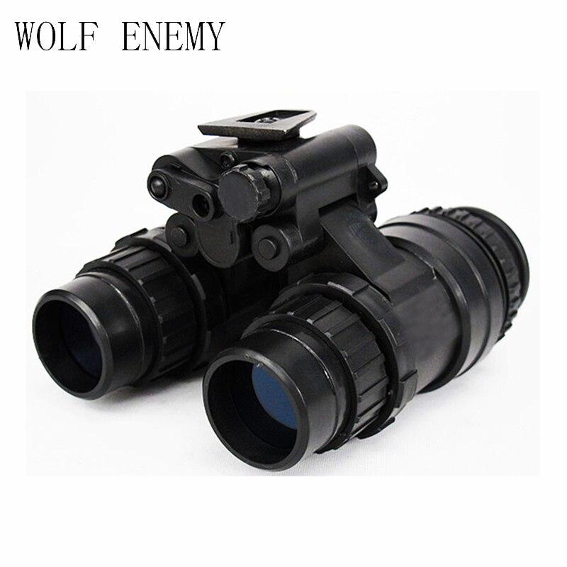 ยุทธวิธีกองทัพทหาร Dummy AN PVS-15 NVG Night Vision Goggle สีดำ