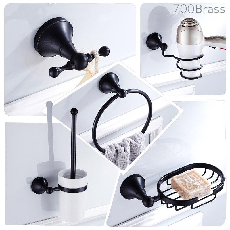 Modern Black Towel Bar Paper Towel Holder Rack Bath ...