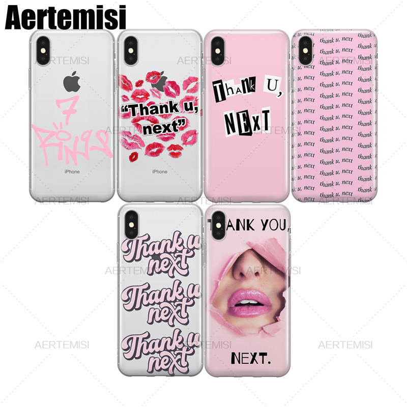 7 Rings Ariana Grande Girl Silicone Cover Case funda For iPhone 6