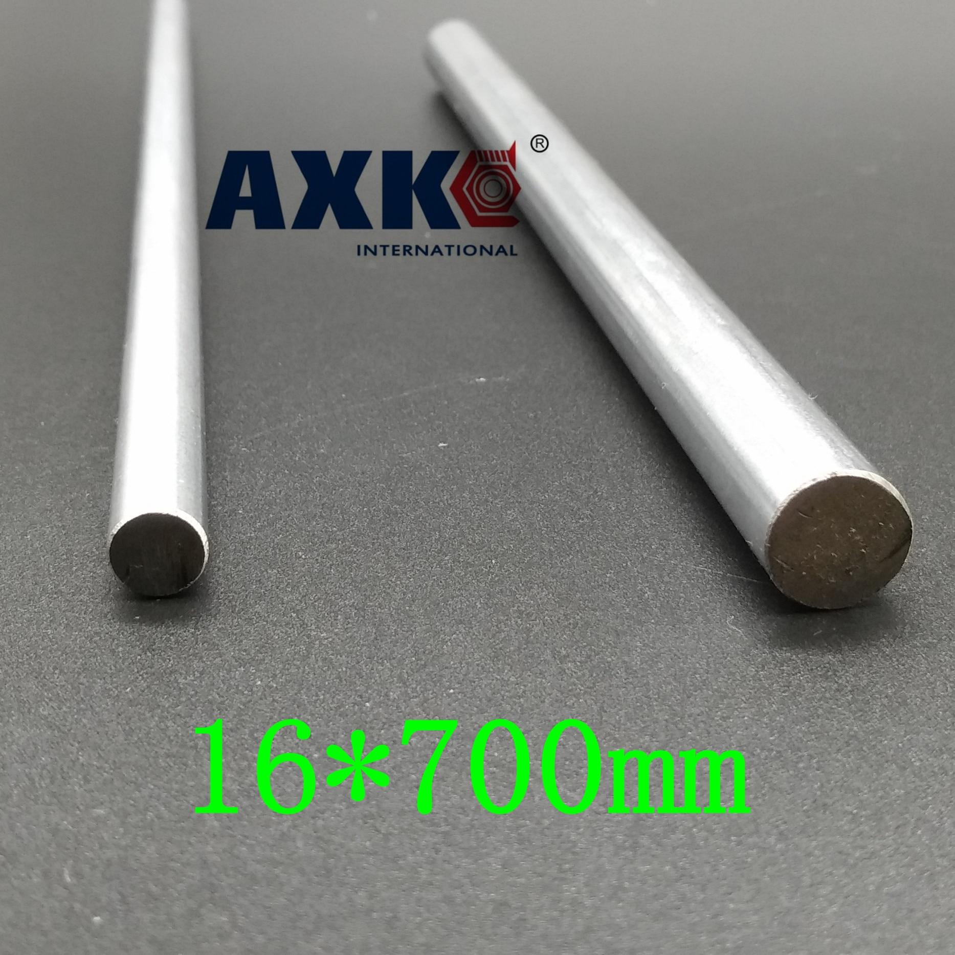 AXK  16mm linear shaft 700mm chrome plated linear motion rail round rod shaft CNC parts SFC16 диски helo he844 chrome plated r20