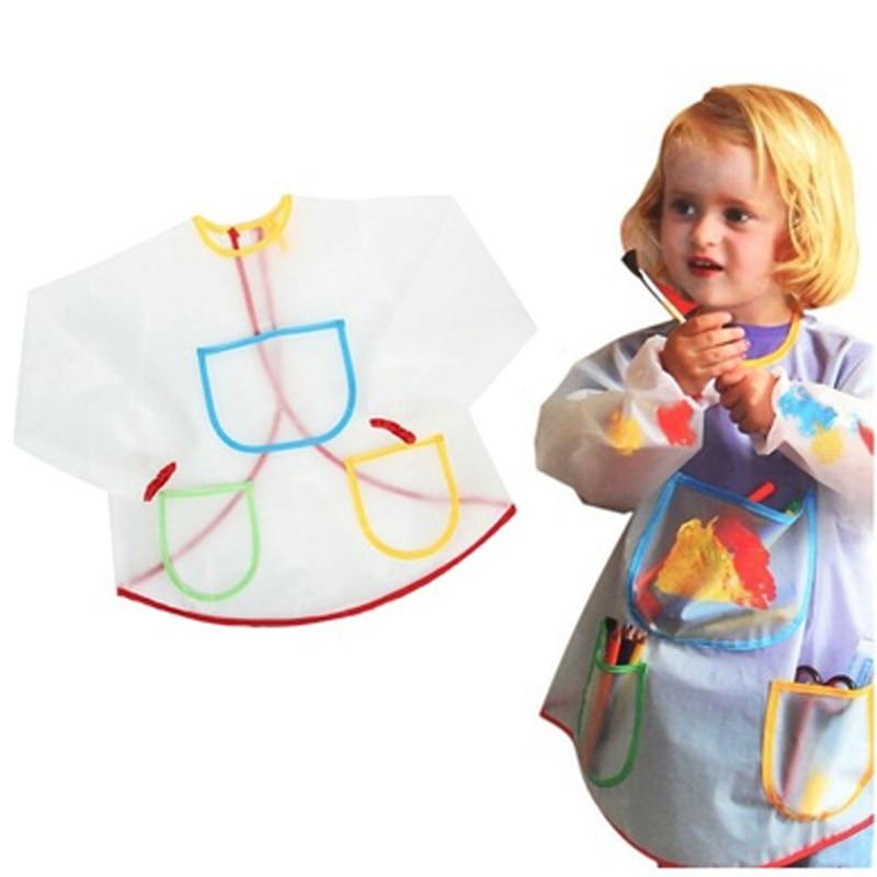 Waterproof Antifouling Apron Painting Drawing Coat for Children Costume Crafts DIY Paint Antifouling Aprons for Kids Kindergarte