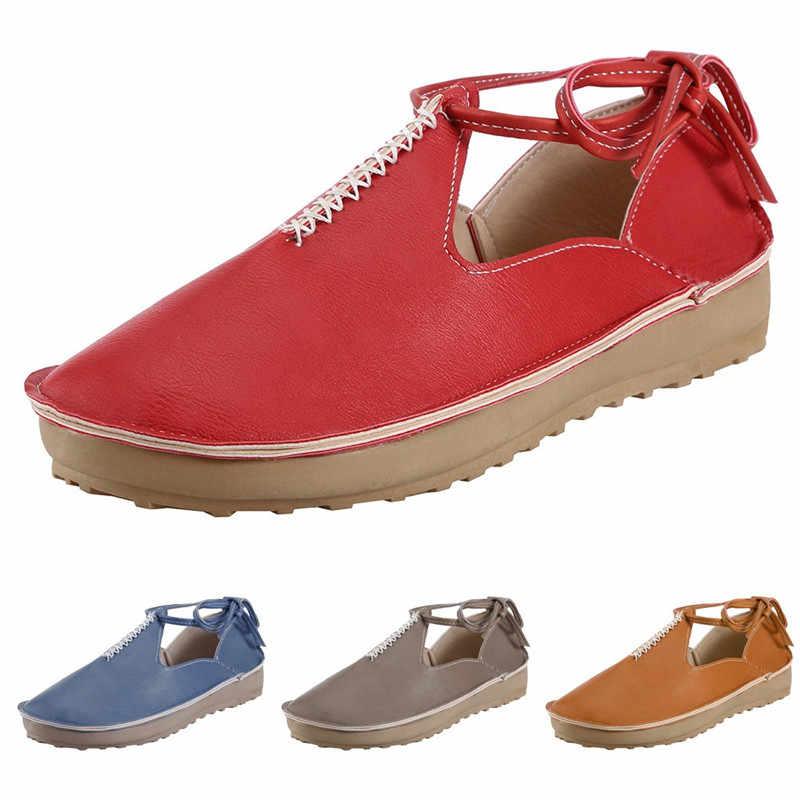 LOULUEN 2019 סנדלי אופנה נשים קיץ שרוכים נעל לנשימה נעליים יומיומיות אפונה אחת נעליים בתוספת גודל 35-43 זרוק #0709