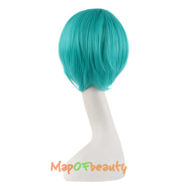 47″ Green Blue Ponytail Cosplay Wig
