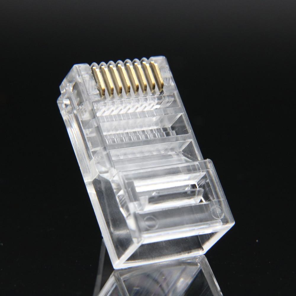 xintylink rj45 kontakt Ethernet-kabel rj 45 Plug Cat5 Cat5e 8pin Utp - Datorkablar och kontakter - Foto 3