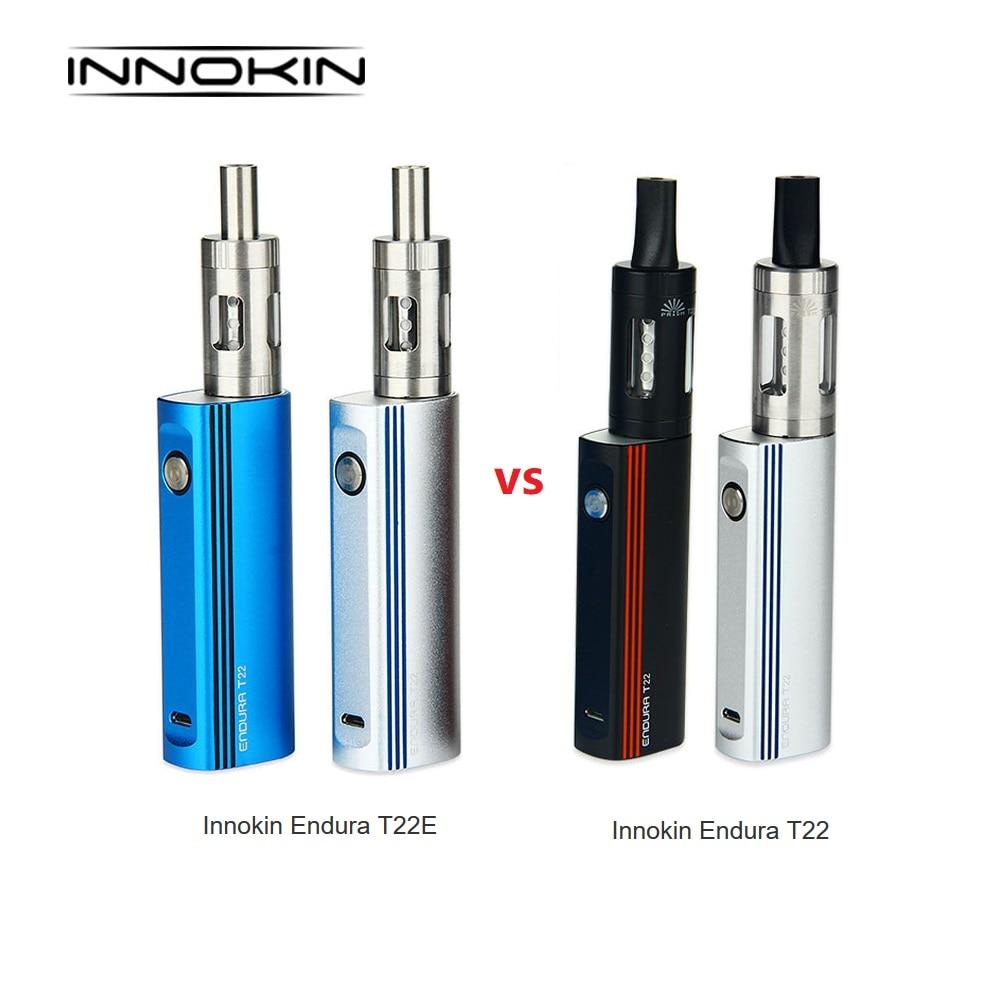 14W Innokin Endura T22 Kit 4ml Vs 2ml Innokin Endura T22E Kit W/ 2000mAh Mod Battery Electronic Cigarette Vape Kit Vs Drag 2