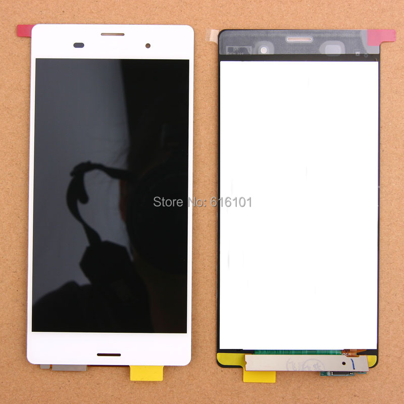Free Shipping LCD Display Touch Screen Digitizer Glass Assembly Replacement For Sony Xperia Z3 D6603 D6653 White sisley 4p9ss52p2