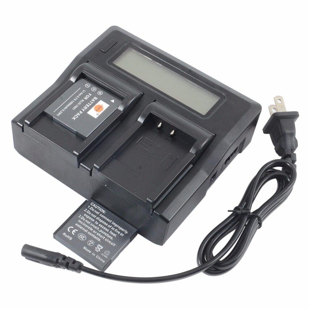 DSTE 2x KLIC-7001 Batterie avec 1.5A Double Chargeur pour KODAK V550 V570 V610 V705 M753 M763 M853 M863 Intelligent Appareil Photo Numérique